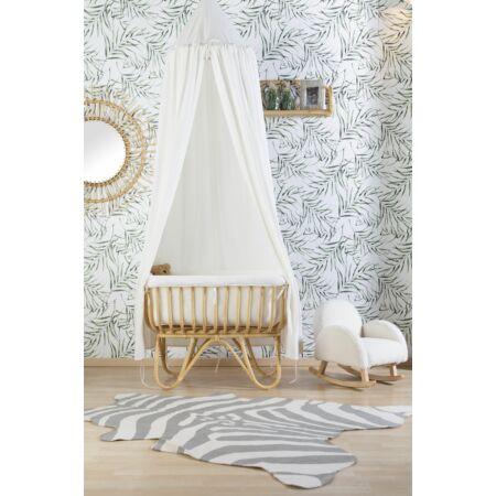 Függő baldachin játszószőnyeggel fehér