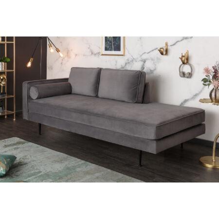 Avia bársony kanapé szürke