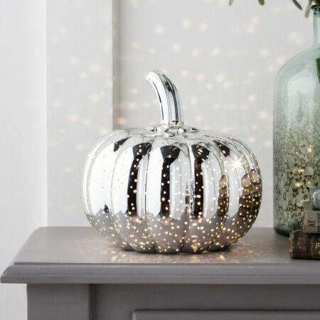 Halloween töklámpás LED világítással - ezüst
