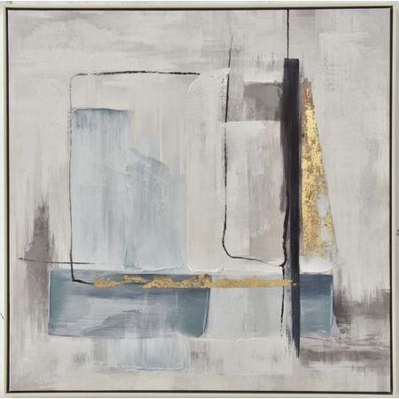 Crown kék-ezüst olajfestmény 82,5 x 82,5 cm