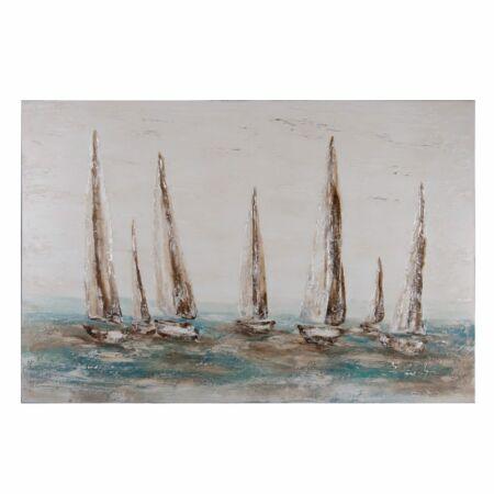 BOATS absztrakt festmény 100x150 cm