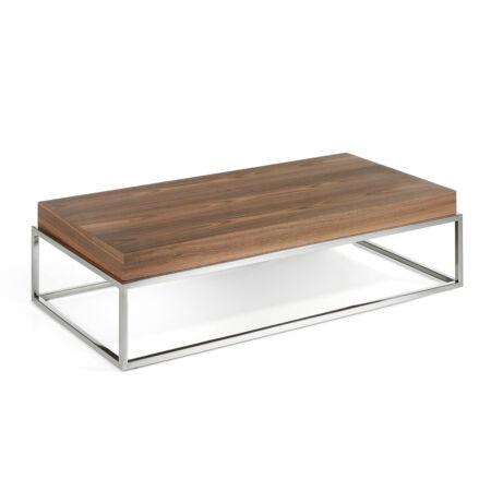 Kristel diófa dohányzóasztal - 123 cm
