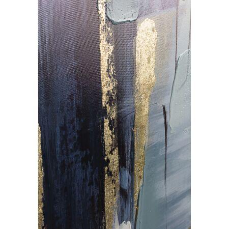 Willy kék-ezüst olajfestmény 82,5 x 82,5 cm