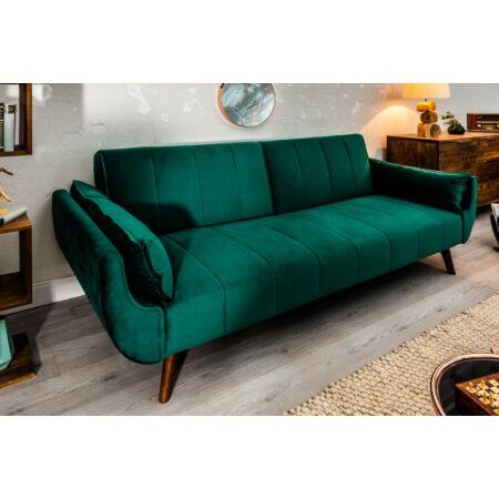 Anette zöld bársonykanapé - 215 cm