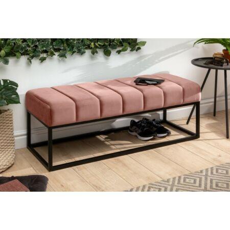 Mira bársony pad 110 cm - rózsaszín