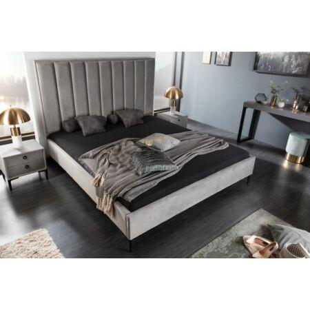 Amalie bársony ágy - szürke 180 x 160 cm