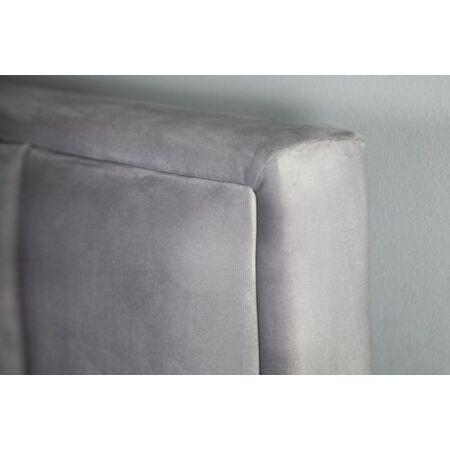 Amalie bársony ágy - szürke 200 x 160 cm