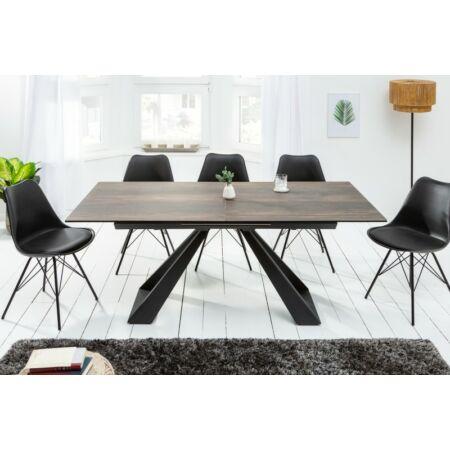 Lora kerámia sötétbarna étkezőasztal 180 cm - 230 cm-re bővíthető