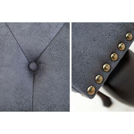 Noble puff / lábtartó - sötétszürke 80 cm
