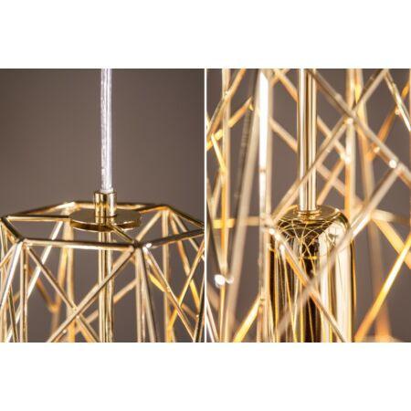 Cage függesztett lámpa 36 cm - arany