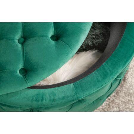 Alda puff tárolóval 75 cm - sötétzöld