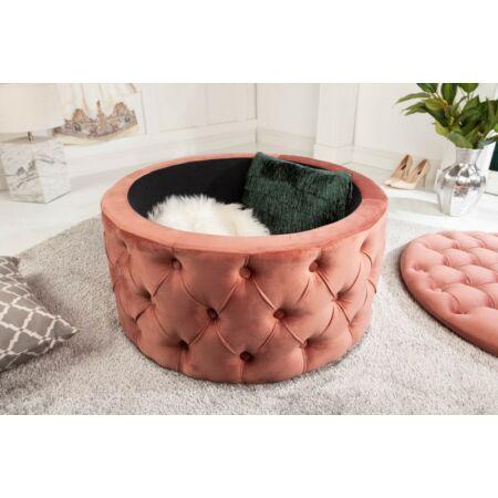 Alda puff tárolóval 75 cm - rózsaszín