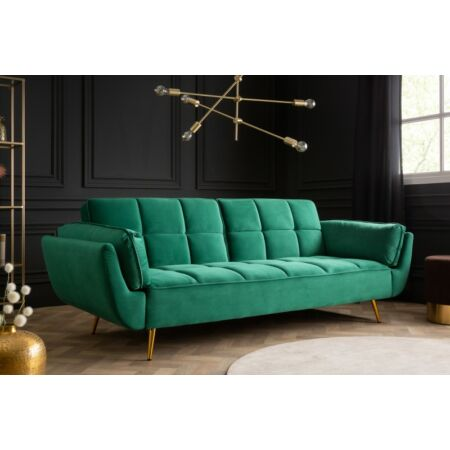 Fulda bársony kanapé - smaragdzöld