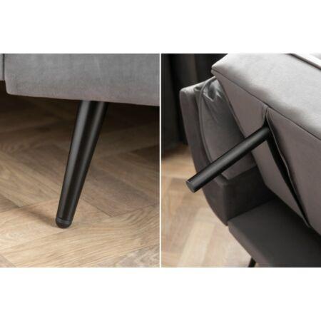 Fulda bársony kanapé - szürke