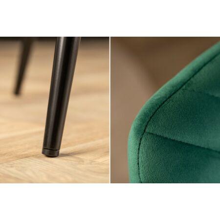 Sebastian bársony szék - zöld - 4 darab