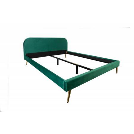 Famous bársony ágy 140 x 200 cm - sötétzöld
