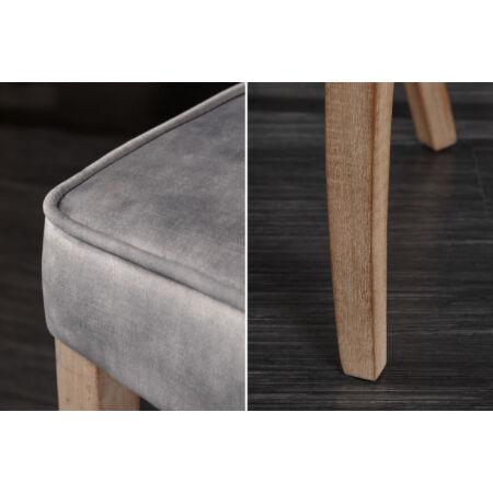 CASTLE szék - szürke színben fém fogantyúval