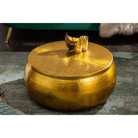 Marrak dohányzóasztal - arany - 70 cm - tárolóval