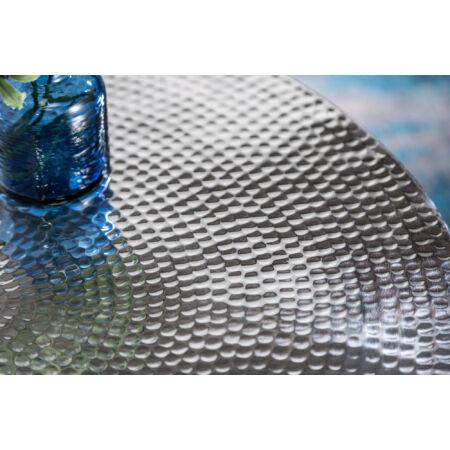 Marrak dohányzóasztal - ezüst - 70 cm - tárolóval