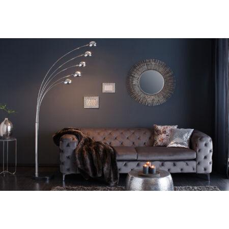Matilde ezüst állólámpa -  fekete márvány talppal