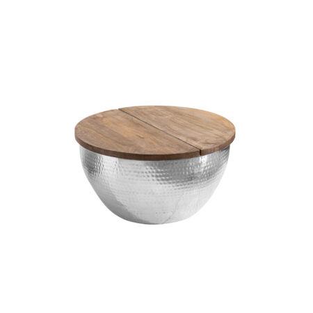 TRION dohányzóasztal - ezüst
