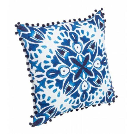 CORIN párna kék-fehér 40x40 cm