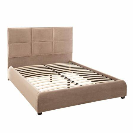 Lara bársonyos ágy 200 cm - taupe