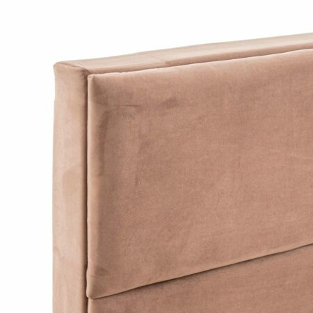 Lara bársonyos ágy 200 cm tárolóval - taupe