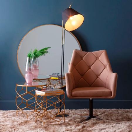 KATE fotel műbőr - világos barna