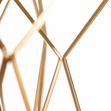 Triana arany dohányzóasztal szett fehér márvány asztallappal - 59 cm