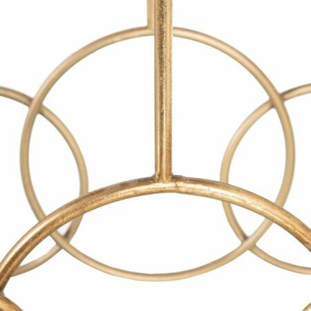 Adan arany konzolasztal fekete márvány asztallappal - 80 cm