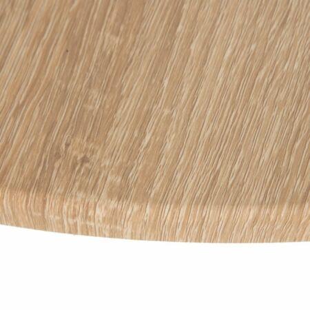 Carmina ezüst dohányzóasztal fa asztallappal - 80 cm