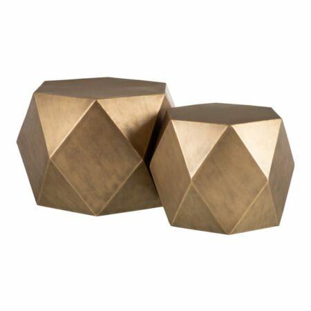 Reina arany geometrikus dohányzóasztal szett - 68 cm