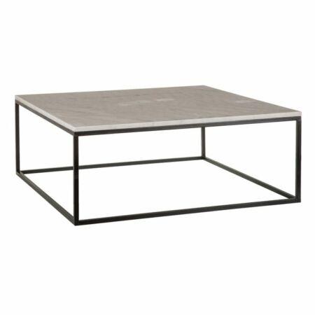 Blanca fekete-fehér márvány dohányzóasztal - 90 cm