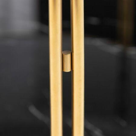 Carol arany - fekete márvány dohányzóasztal - 100 cm