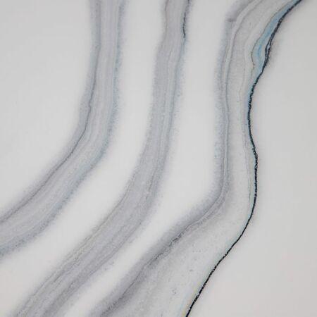 Leon fekete dohányzóasztal márvány asztallappal - 80 cm
