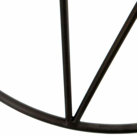 Loren fekete dohányzóasztal üveg asztallappal - arany díszekkel - 45 cm