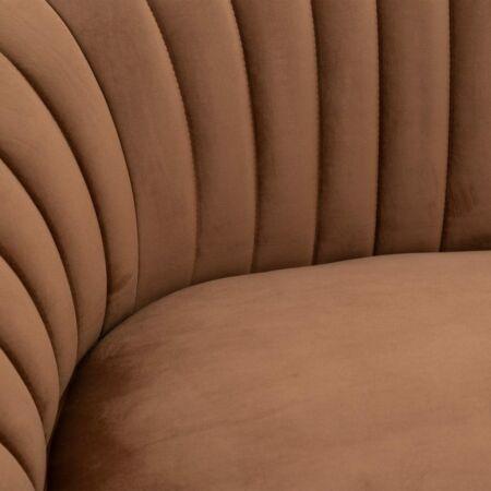 HARPER 3 személyes bársony kanapé okker