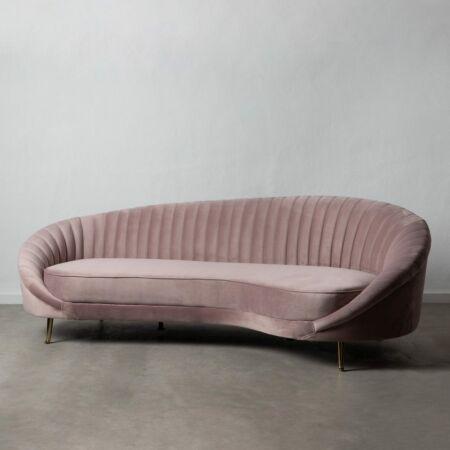 HARPER 3 személyes bársony kanapé pink