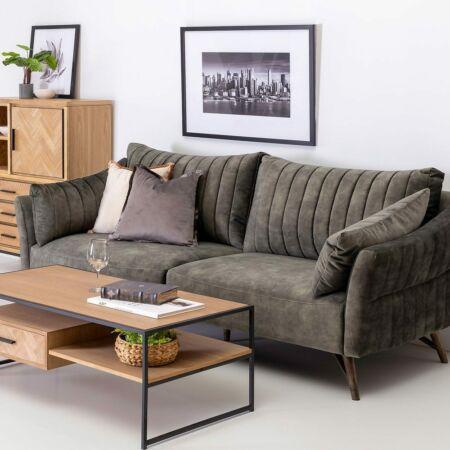 NORA 2 személyes kanapé mohazöld