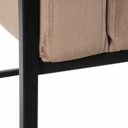 ALETTA bársony fotel - világos barna