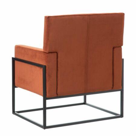 ALETTA bársony fotel - lángvörös