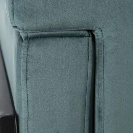 ALETTA bársony fotel - szürkés zöld
