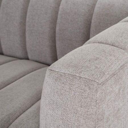 MILA 2 személyes vászon kanapé szürke
