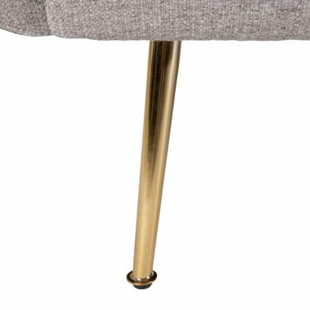 MILA 3 személyes vászon kanapé szürke