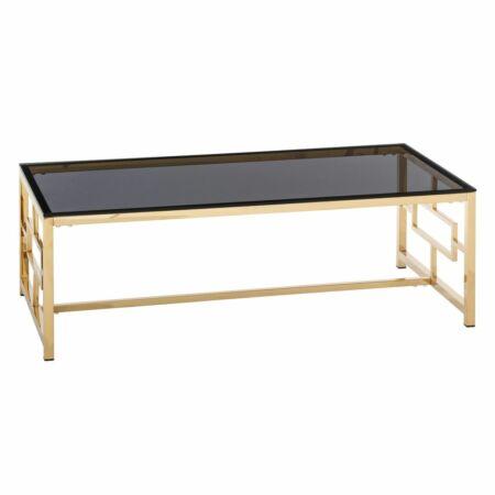 Glory dohányzóasztal - arany, üveg 120x60x40 cm