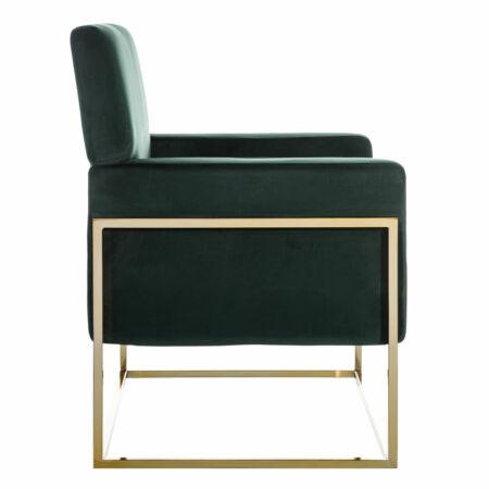 Armin bársony fotel - zöld