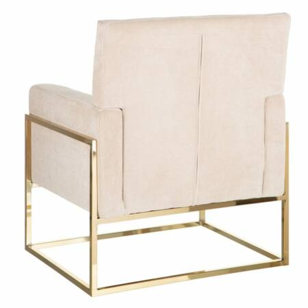 Armin bársony fotel - bézs