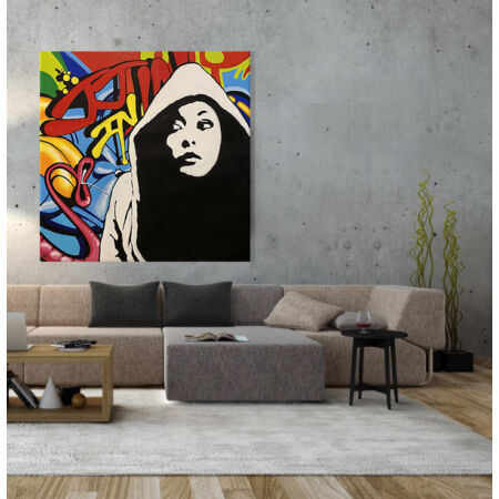 I NEED COLOURS festmény - 120 x 120 cm