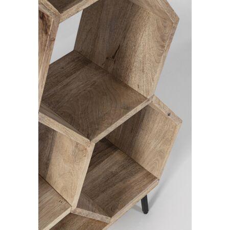 WAHIDA fa könyvespolc - 186 cm